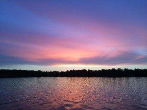 An evening at Lake Carlos
