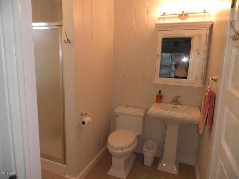 A remodeled bathroom with one of my business partners, Tom Akenson, with a cameo. ; )