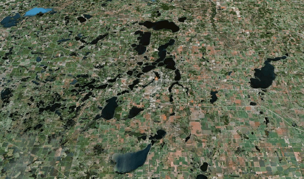 Aerial view of Douglas County in MN