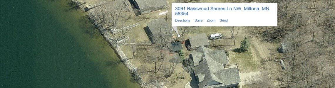 Home for sale at Basswood Shores, Lake Miltona.