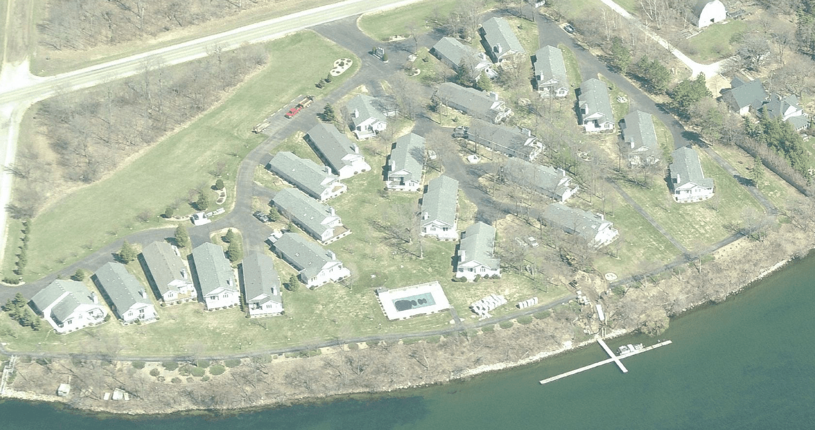 Bird's Eye View of Frenchman Cove Townhomes