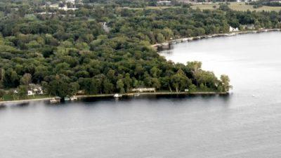 Browns Point aerial - Lake Darling