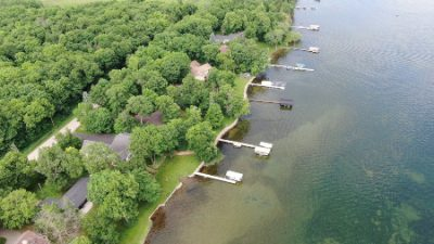 An aerial look at Lake Darling's Casa Marina Lane in Alexandria, MN
