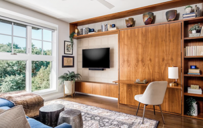 A multipurpose room in a home