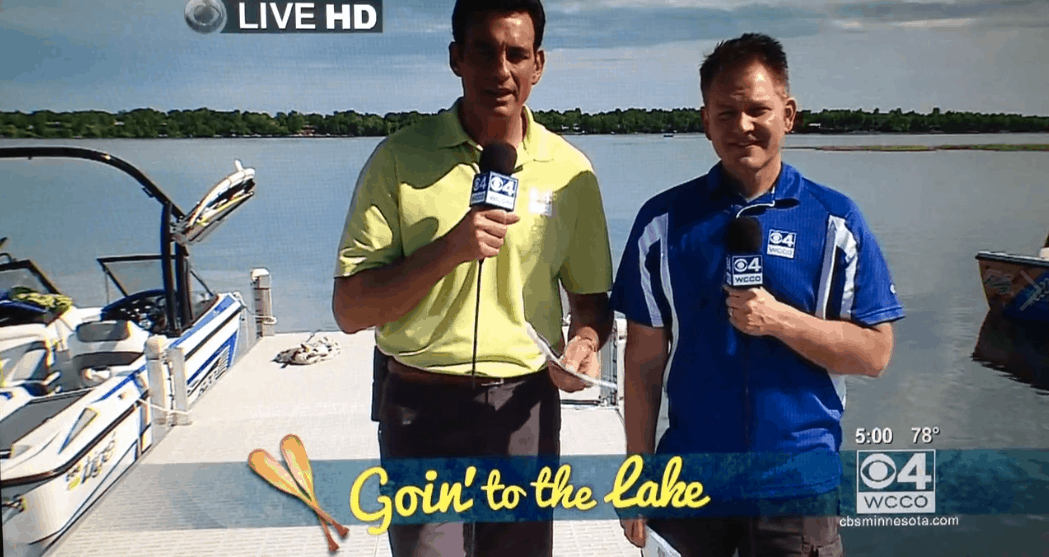 WCCO's Frank Vascellaro and Chris Shaffer are goin' to the lake