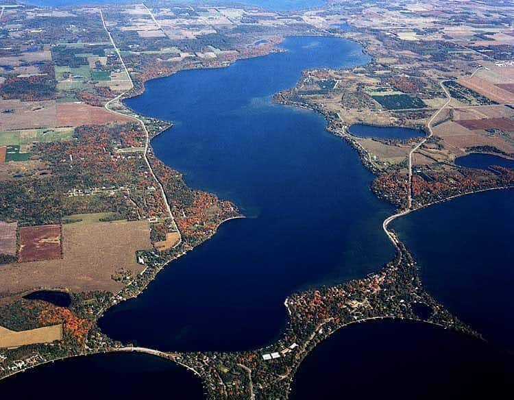 Lake Carlos. The largest lake in Alexandria's Chain of Lakes.