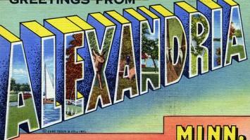 A postcard from Alexandria, Minnesota
