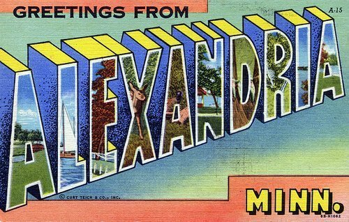 A postcard from Alexandria, Minnesota