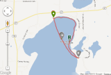 Paddling around Lake Mary in Alexandria, Minnesota