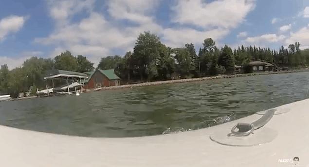 Stand Up Paddleboarding at Lake Ida in Alexandria, Minnesota