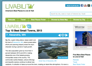 Best places to live according to livability.com