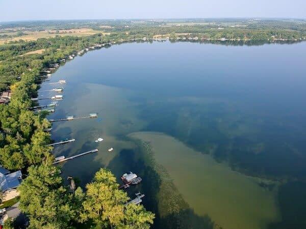 The south end of Lake Ida in Alexandria, Minnesota