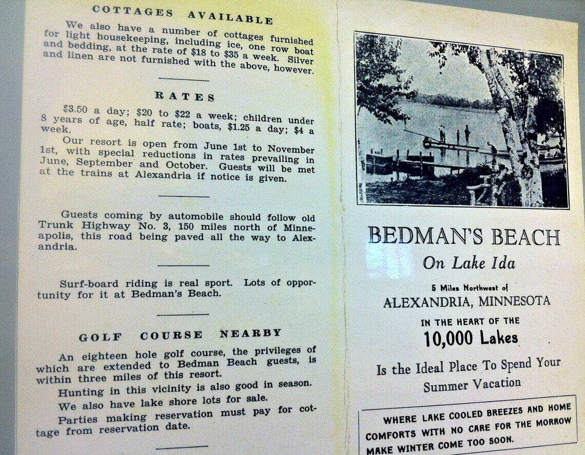about Bedman Beach at Lake Ida