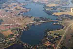 Aerial of Lake Latoka