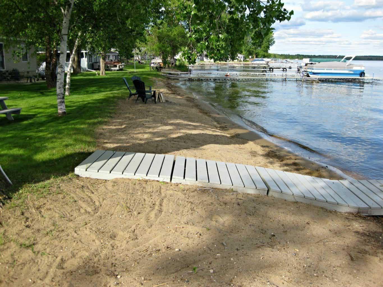Hard and sandy at Sandy Beach Drive in Miltona, Minnesota