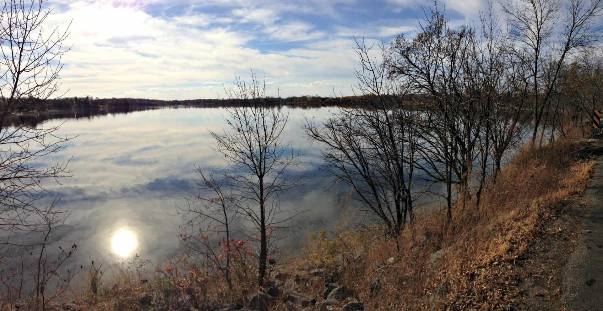 Glass-like Lake Cowdry in Alexandria, Minnesota