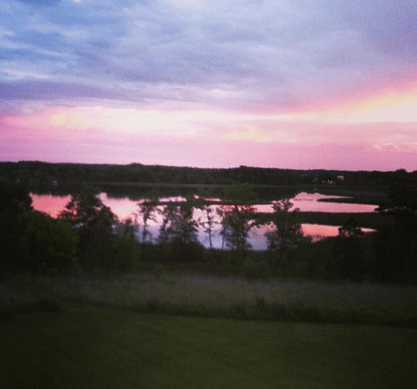 A view of Lake Chippewa from Turtle Ridge in Brandon, Minnesota